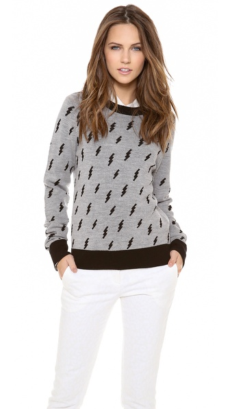 A.L.C. Castillo Sweater - Heather/Black at Shopbop / East Dane