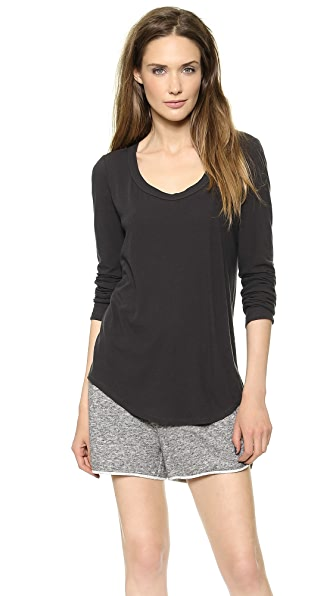 A.L.C. Long Sleeve Scoop Neck Tee