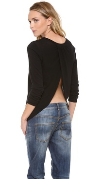 A.L.C. Long Sleeve Open Back Top