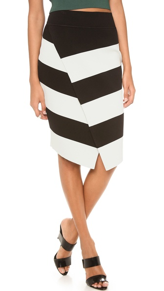 A.L.C. Campbell Skirt - Black/Mint at Shopbop / East Dane