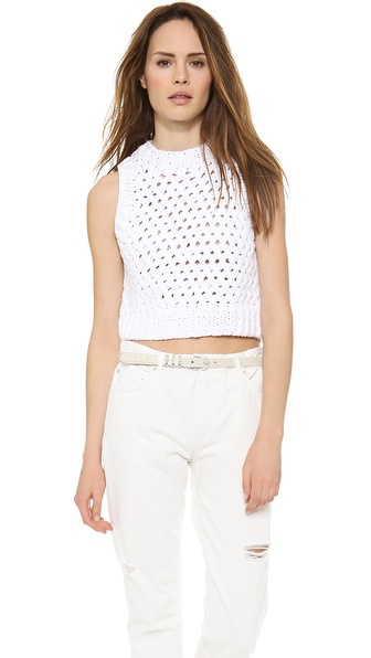 A.L.C. Cross Sweater - White at Shopbop / East Dane