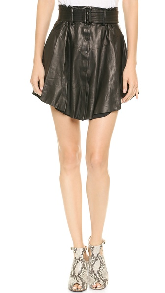 A.L.C. Jay Leather Skirt