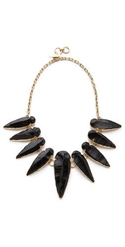 Charles Albert Obsidian Arrowhead Necklace