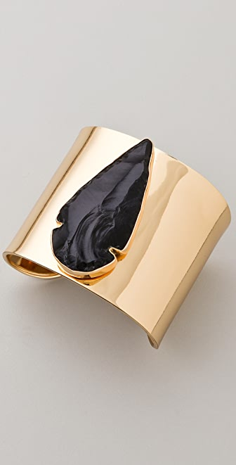 Charles Albert Obsidian Arrowhead Cuff