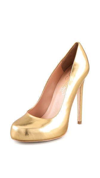 Alejandro Ingelmo Grace Metallic Platform Pumps