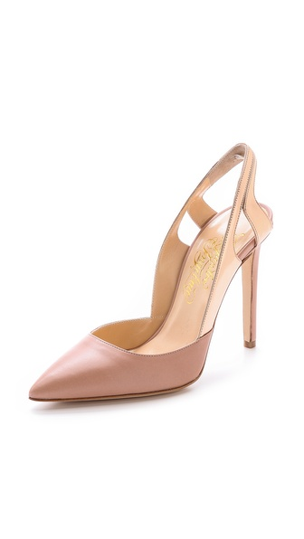 Alejandro Ingelmo Frederica Pointed Toe Pumps - Nude/Rose Gold at Shopbop / East Dane