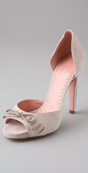 Alexandra Neel Sharon Whipstitch Open Toe Pumps