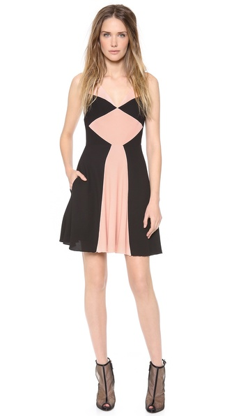 Alex Perry Bonnie Mini Colorblock Dress