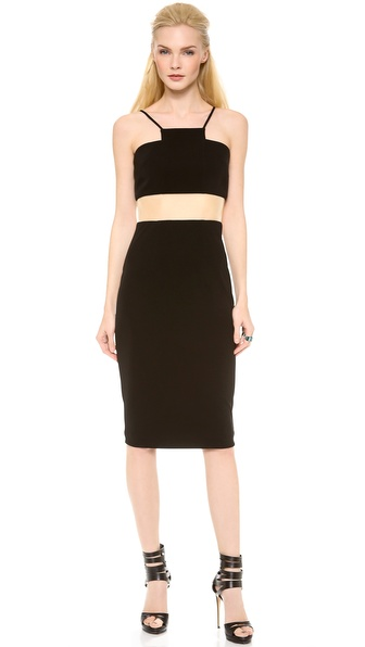 Alex Perry Ariel Halter Contrast Dress