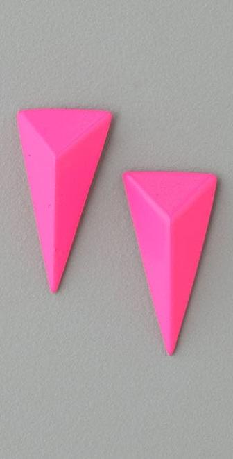 Alexis Bittar Neon Pyramid Earrings
