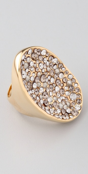 Alexis Bittar Crystal Encrusted Gold Pool Ring
