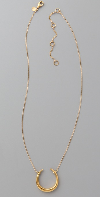 Alexis Bittar Liquid Gold Horseshoe Necklace