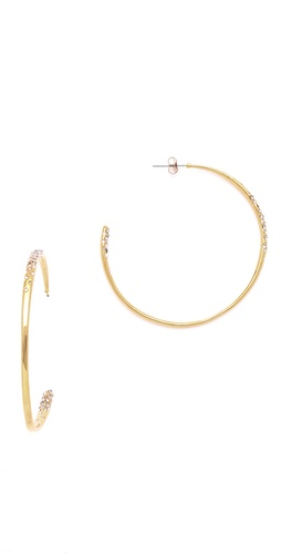 Alexis Bittar Crystal Encrusted Extra Large Hoop Earrings