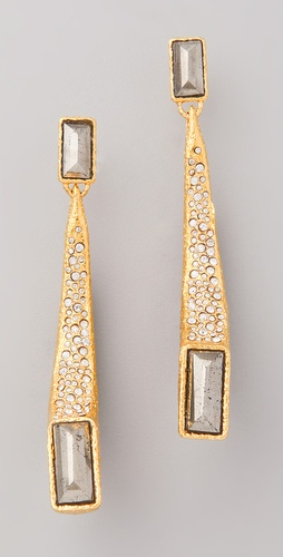 Alexis Bittar Gold Ivory Claw Earrings