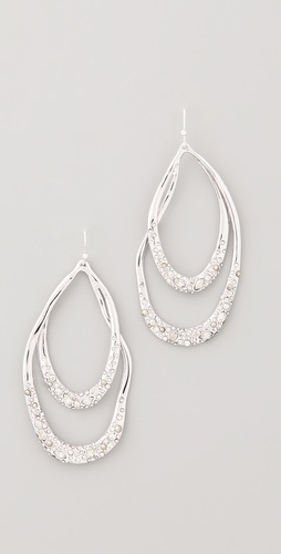 Alexis Bittar Crystal Orbiting Tear Earrings
