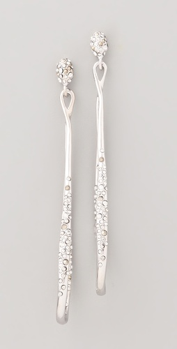 Alexis Bittar Crystal Orbiting Drop Earrings