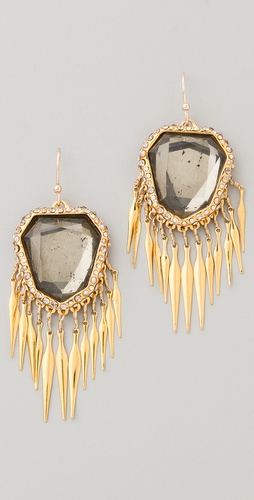 Alexis Bittar Crystal Encrusted Fringe Earrings