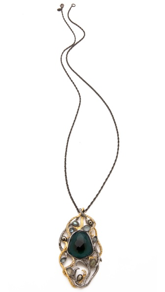 Alexis Bittar Siyabona Cushion Pendant Necklace