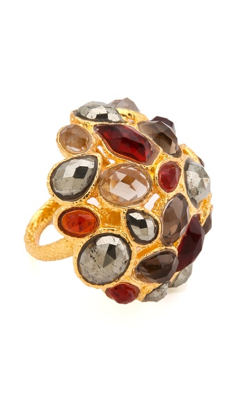 Alexis Bittar Siyabona Domed Cluster Ring