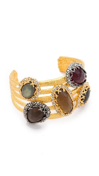 Alexis Bittar Siyabona Multi Stone Cuff