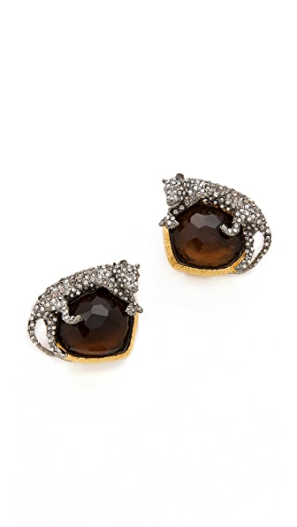 Alexis Bittar Siyabona Panther Clip Earrings