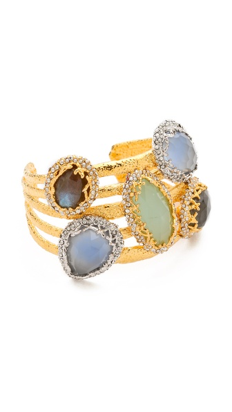 Alexis Bittar Multi Stone Cerulean Cuff