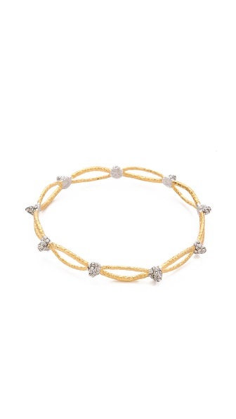 Alexis Bittar Siyabona Spiked Woven Bangle