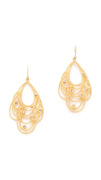 Alexis Bittar Floral Lace Earrings