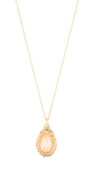 Alexis Bittar Floral Small Tear Necklace