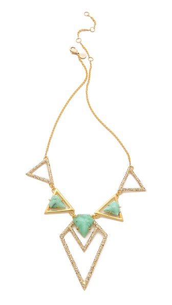 Alexis Bittar New Wave Shield Necklace