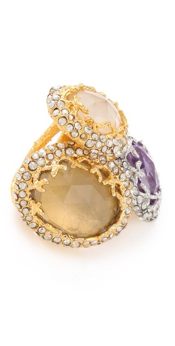 Alexis Bittar Floral Stacked Ring
