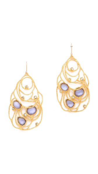 Alexis Bittar Mauritius Doublet Lace Tear Earrings
