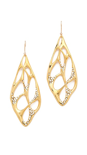 Alexis Bittar Liquid Pave Interlaced Earrings