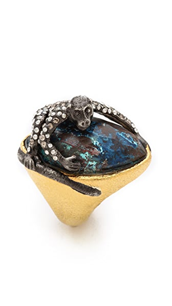 Alexis Bittar Mauritius Chrysocolla Spider Monkey Ring