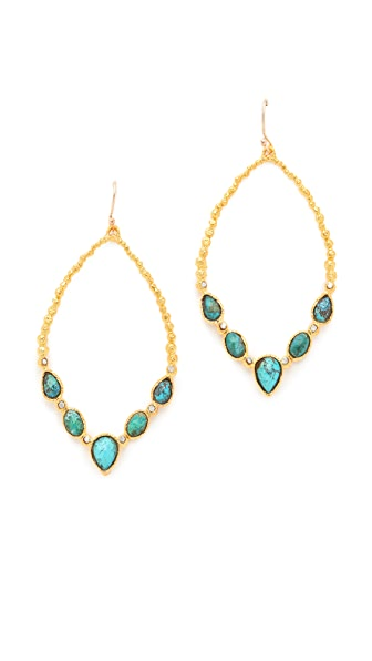 Alexis Bittar Cordova Chrysocolla Tear Earrings