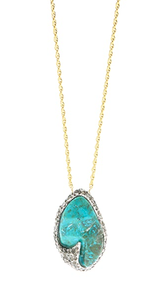 Alexis Bittar Cordova Chrysocolla Long Necklace