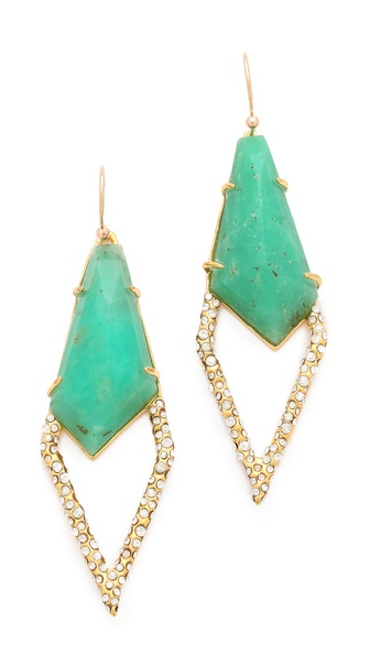 Alexis Bittar Chrysoprase Drop Earrings