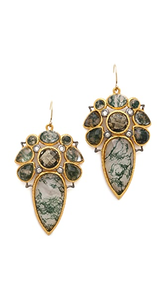 Alexis Bittar Moss Agate Doublet Earrings