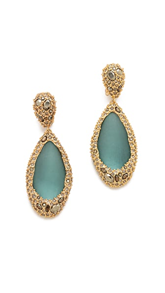 Alexis Bittar Neo Bohemian Stone Clip Earrings