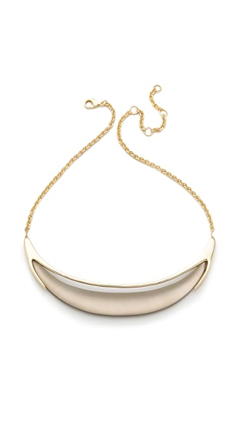 Alexis Bittar Neo Bohemian Minimal Crescent Necklace