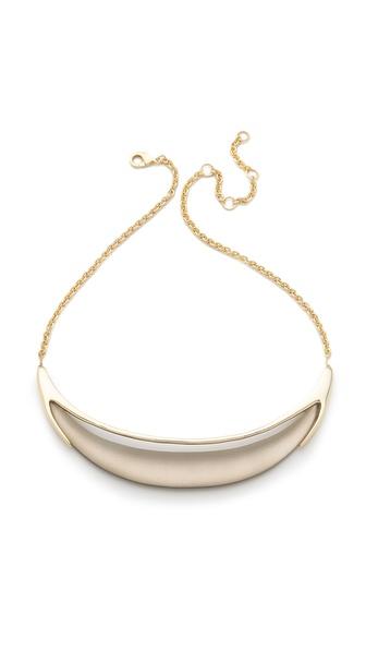 Alexis Bittar Neo Bohemian Minimal Crescent Necklace
