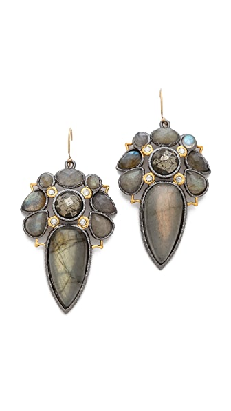 Alexis Bittar Mosaic Wire Labradorite Earrings