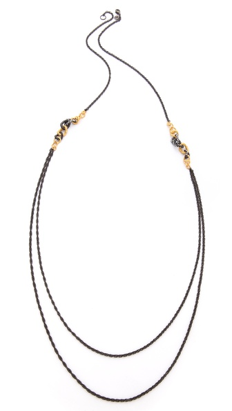 Alexis Bittar Chain Link Station Necklace