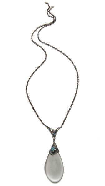 Alexis Bittar Neo Bohemian Lucite Curb Necklace