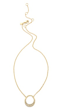 Alexis Bittar Small Aura Pave Pendant Necklace