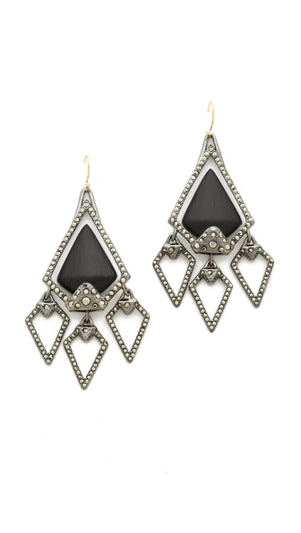 Alexis Bittar Santa Fe Deco Arrowhead Chandelier Earrings