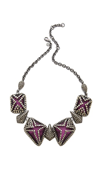 Alexis Bittar Santa Fe Deco Caged Bib Necklace