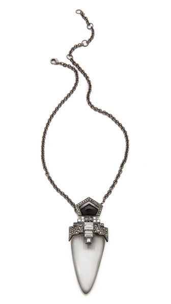 Alexis Bittar Santa Fe Deco Jewel Pendant Necklace