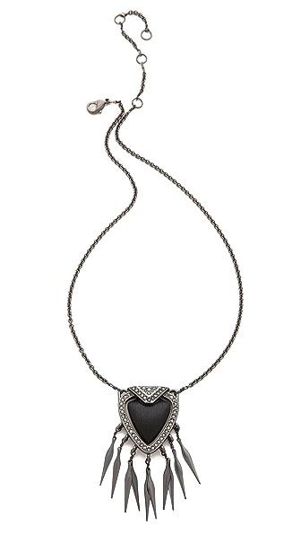 Alexis Bittar Santa Fe Deco Fringed Shield Necklace