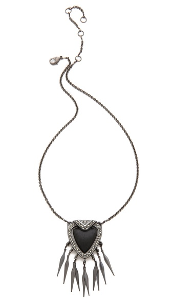 Alexis Bittar Santa Fe Deco Fringed Shield Necklace